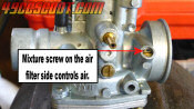 Inlet Side Idle Mixture Screw