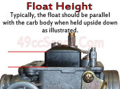 GY6 Float Height