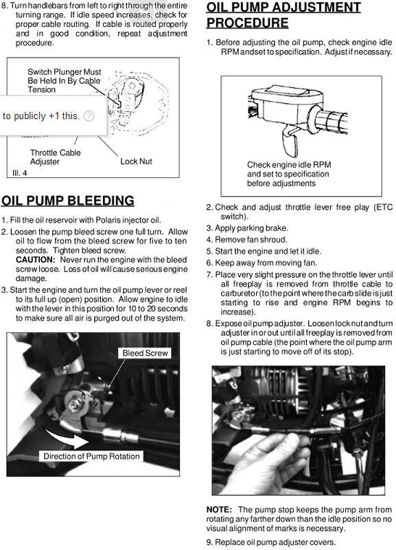 Minarelli Oil Injection Pump Adjustment & Bleeding