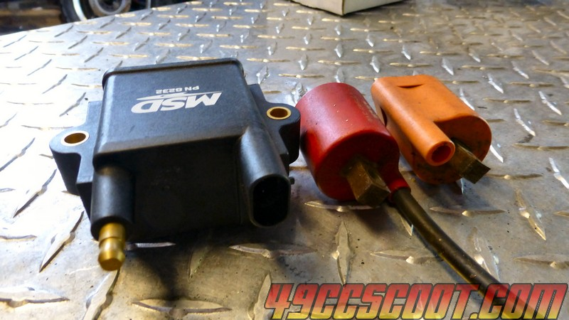 MSD Ignition Coil Installation & Making Spark Plug Wires | 49ccScoot