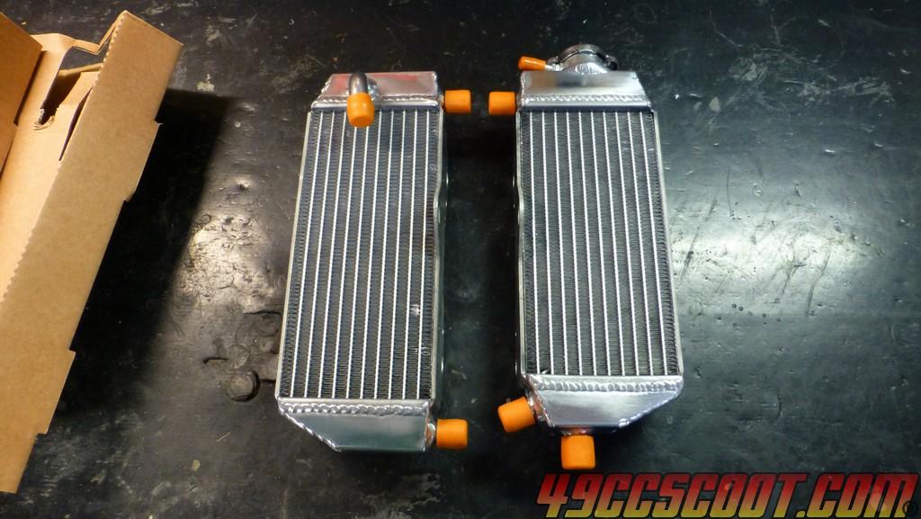 YZ125 Radiator Pair